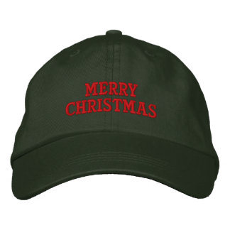 Merry Christmas Embroidery Cap