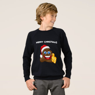 Merry Christmas Emoji Poop Stylish Sweatshirt! Sweatshirt