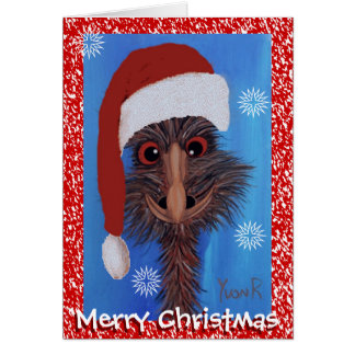 Merry Christmas Emu Card