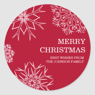 Merry Christmas Envelope Seals - Red