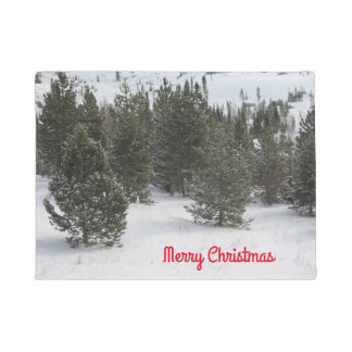 Merry Christmas Evergreen Doormat