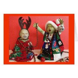 Merry Christmas, Everyone. Even zombies Greeting Card