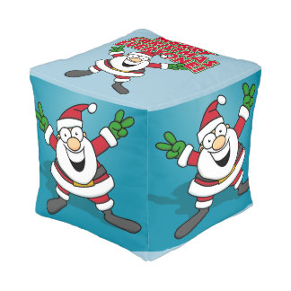 Merry Christmas Everyone Cube Pouf
