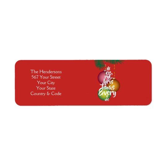 Merry Christmas Everyone Script Tree & Name -