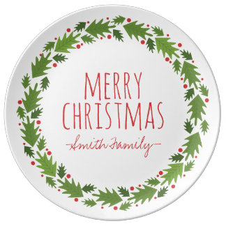 Merry Christmas. Family. Holiday. Plate
