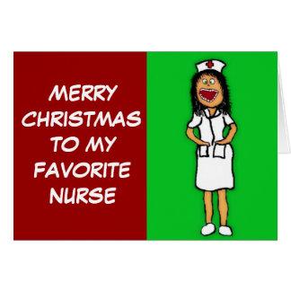 Merry Christmas Favorite Nurse Card
