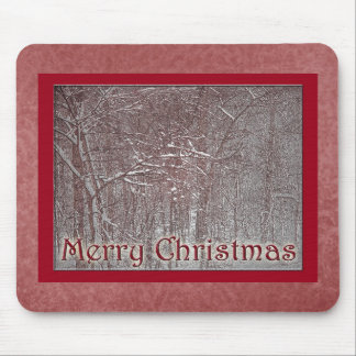 Merry Christmas February Snow Storm Mouse Pads