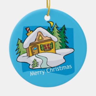Merry Christmas festive customizable ornament
