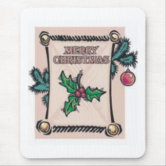 Merry Christmas Festive Mouse Pad