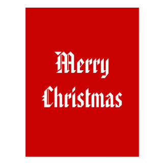 Merry Christmas. Festive Red and White. Custom Post Cards