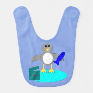 Merry Christmas Fishing Penguin Bib