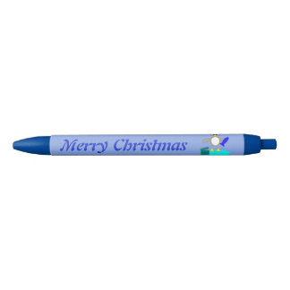 Merry Christmas Fishing Penguin Custom Pen