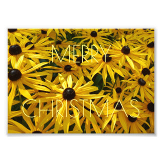Merry Christmas Floral Yellow Flower Photography Photographic Print