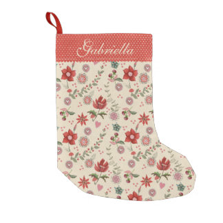 Merry Christmas Flower | Christmas Stocking