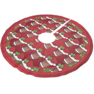 Merry Christmas Football Lovers Brushed Polyester Tree Skirt