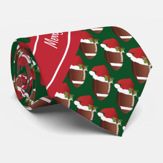 Merry Christmas Football Tie