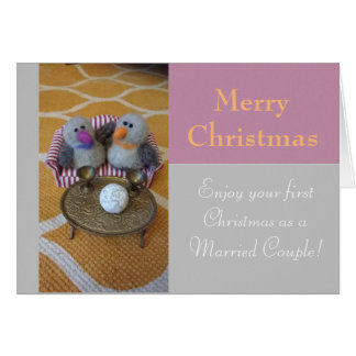 Merry Christmas for a newly wed couple Card