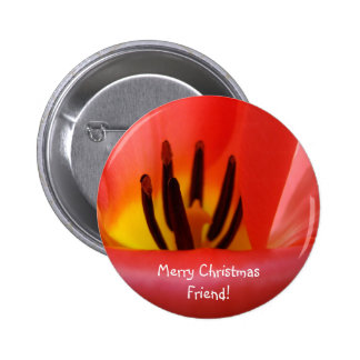 Merry Christmas Friend! buttons Holiday Red Tulip