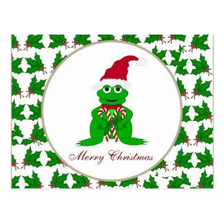 Merry Christmas Frog Postcard