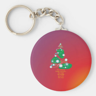 Merry Christmas Fröhliche Weihnachten Buon Natale Schlüsselanhänger