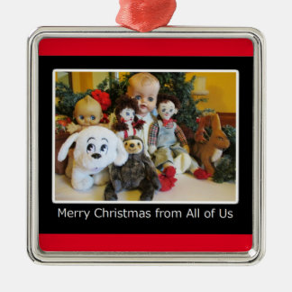 Merry Christmas from All of Us Christmas Ornament
