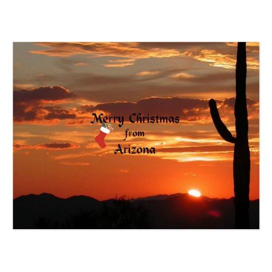 Merry Christmas from Arizona Postcard