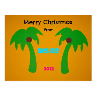 Merry Christmas from Belize 2012 Postcards