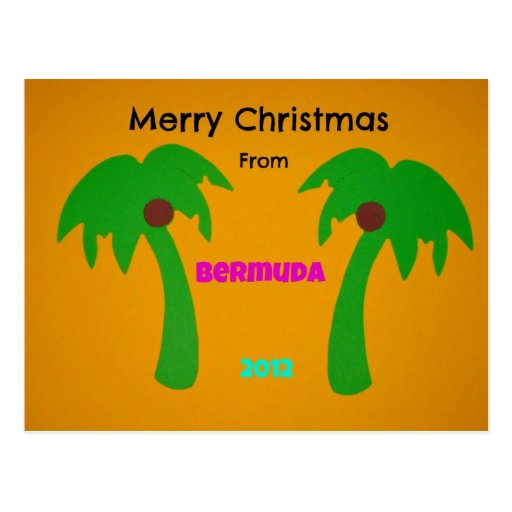 Merry Christmas from Bermuda 2012 Post Card