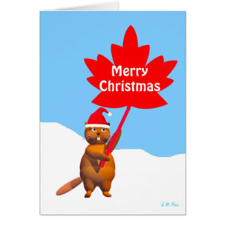 Merry Christmas from Canada Beaver Card