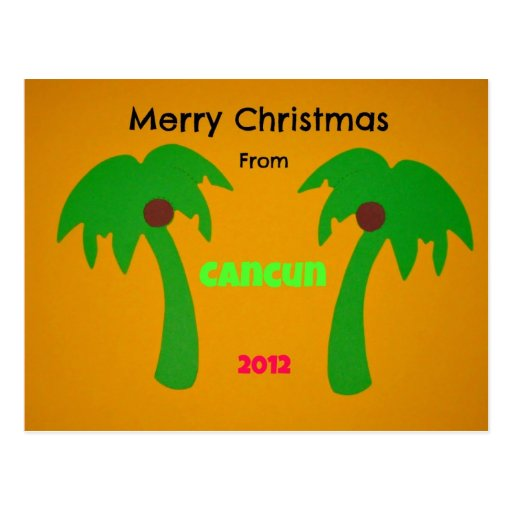 Merry Christmas from Cancun 2012 Post Cards