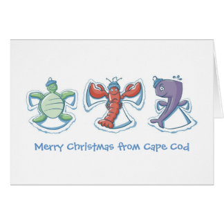 Merry Christmas from Cape Cod Snow Angels Card