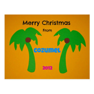 Merry Christmas from Cozumel 2012 Postcard