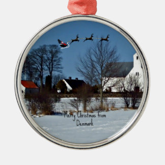 Merry Christmas from Denmark Christmas Ornament
