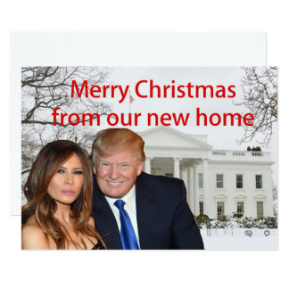 Merry Christmas from Donald and Melania Card