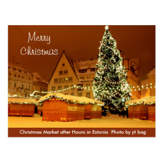 Merry Christmas from Estonia Postcard