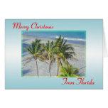 Merry Christmas From Florida Christmas Card, Beach