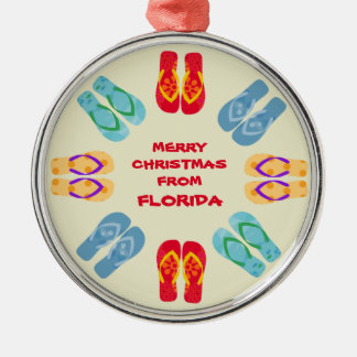 Merry Christmas From Florida Or Your State Christmas Ornament