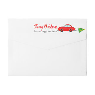 Merry Christmas from Happy New Hom Christmas car Wrap Around Label