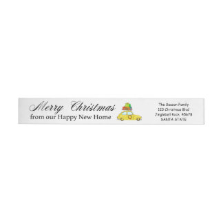 Merry Christmas from Happy New Home Christmas car Wrap Around Label