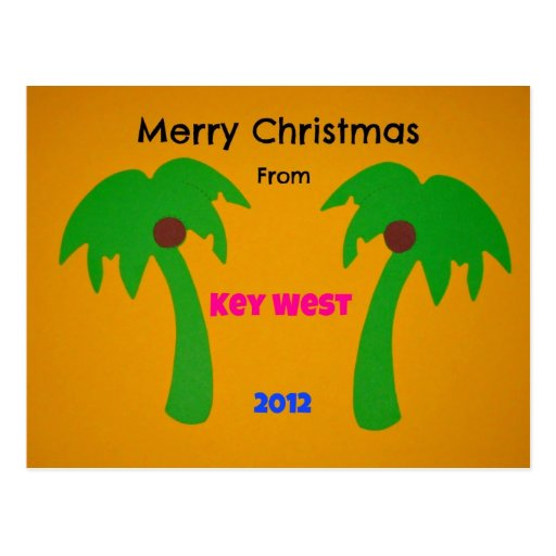 Merry Christmas from Key West 2012 Postcard