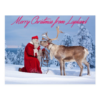 Merry Christmas from Lapland Postcard