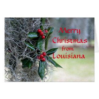 Merry Christmas from Louisiana Card