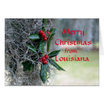 Merry Christmas from Louisiana Greeting Card