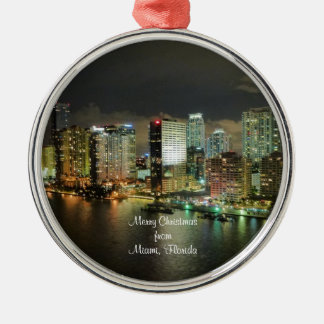 Merry Christmas from Miami, Florida Christmas Ornament