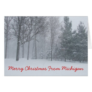 Merry Christmas From Michigan Christmas Card