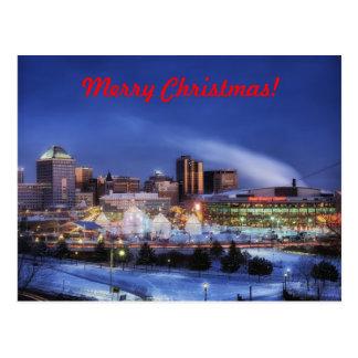 Merry Christmas From Minnesota Postcard