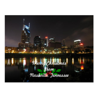 Merry Christmas from Nashville, Tennessee Postcard