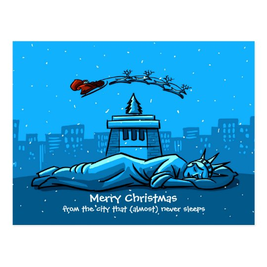 Merry Christmas From New York City Postcard