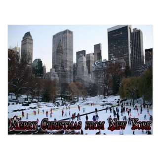 Merry Christmas from New York Postcard