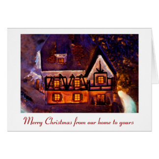 Merry Christmas from our home to yours Card